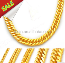 new gold chain design for men punk man and women necklace stainless steel jewelry gold chain