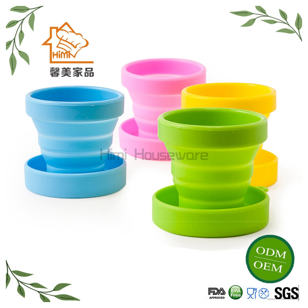 Himi 2017 Outdoor collapsible travel silicone retractable folding cup