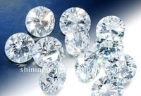 loose sparkling round brilliant cut cubic zirconia white flawless color gems