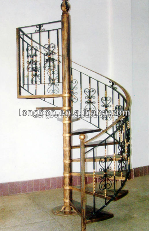 Top-selling curved wrought iron stair railings