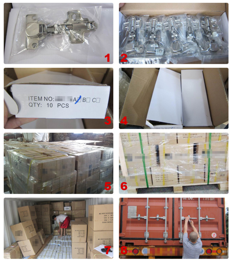 Stable quality glass door hinges