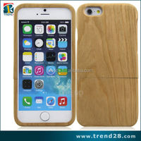 cherry material wooden skin back cover case for iphone 6 6s