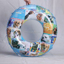 doggy pattern summer inflatable swimming ring tube,durable swim ring circle for pools