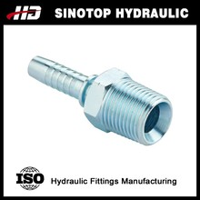 Carbon steel stainless steel npt hydraulic hose end fittings