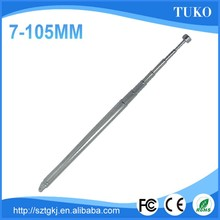 125mm-630mm length 7mm daimeter 7section cleaning magnetic set-top box telescopic car antenna
