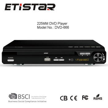 High Quality Home DVD player support 2.1CH USB karaoke