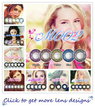 New arrivel lace design green dolly eyes contact lens