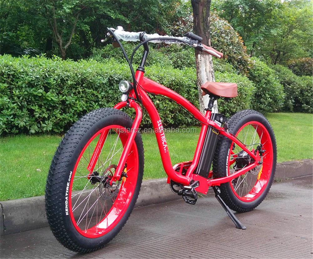 Cheap Price ebike Fat tire electric bicycle 48V 500W beach cruiser electric bike from China