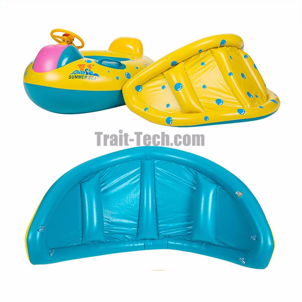 Baby Inflatable Pool Floats Ring, Pool Mattress with Sunshade for Baby