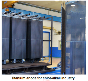 Titanium anode for chlor-alkali industry