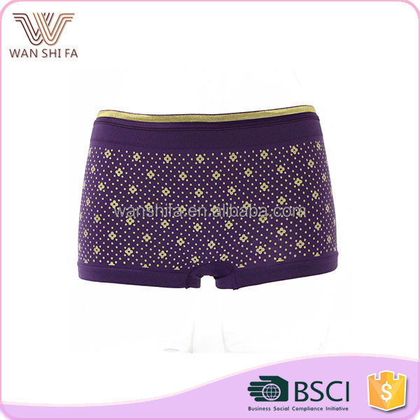 High quality fashional floral prints mature ladies sexy underwear