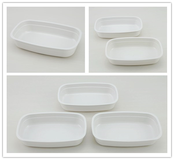 Airline rotable high heat resistant dish for hot meal