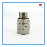 ss 316 1/2'' NPT male thread forged positionable male end fitting tube connector