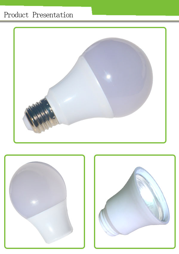270 degree led bulb light thermal plastic 9w