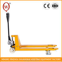 With Low Height Working Nylon PU or Rubber CE Hydraulic Hydraulic Hand Pallet Truck For Carry Cargo