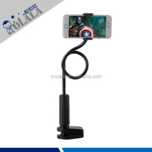 Flexible swivel alu long gooseneck tube phone stand phone holder for bed or desk