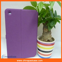 Silicon leather smart cover case for ipad mini,For iPad mini case with card slot