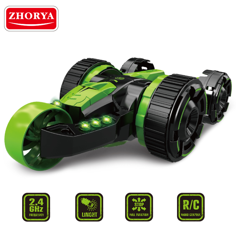 Zhorya Rolling stunt cars RC toy Including batteries