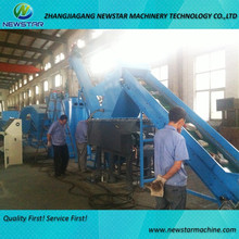 Jiangsu Suzhou Newstar cost of PET bottle flakes washing plastic recycling machine