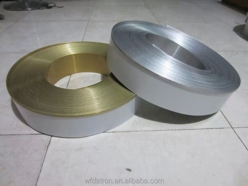Edge <strong>Aluminum</strong> Profile Channel Roll for making channel letters and led sign 8cm brush sliver brush gold color