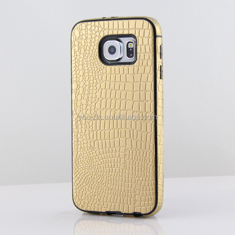 Luxury PU Leather Soft TPU Case For Samsung Galaxy S6 S6 Edge