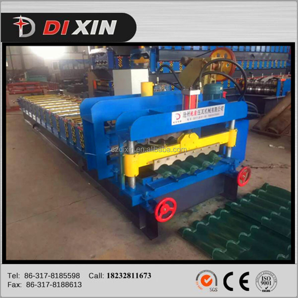 cheap aluminum glazed metal roofing tile cold making machinery, glazed tile forming machine for step roofing sheet
