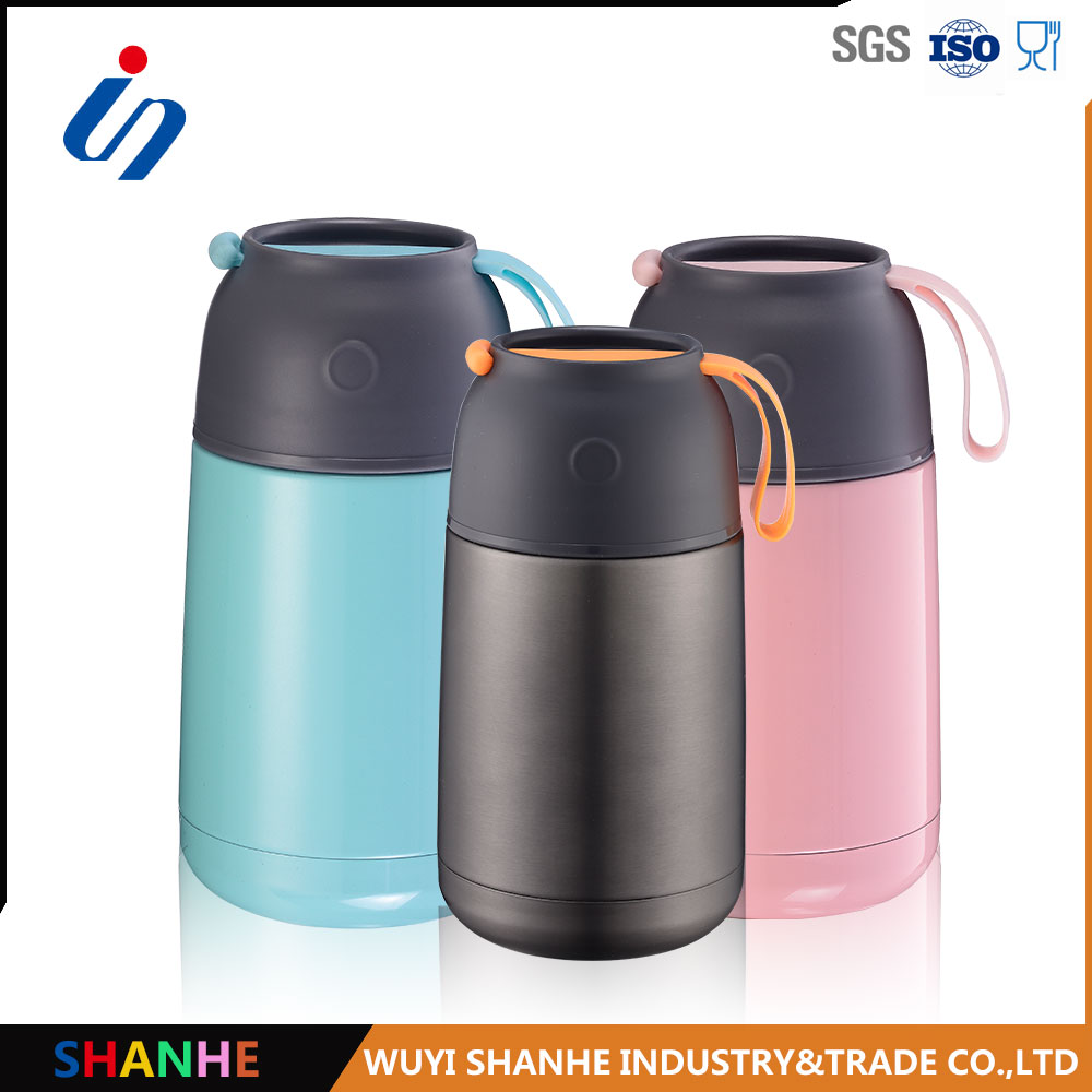 new hot sell double walled stainless steel thermos food flask keep hot or cold 450ml