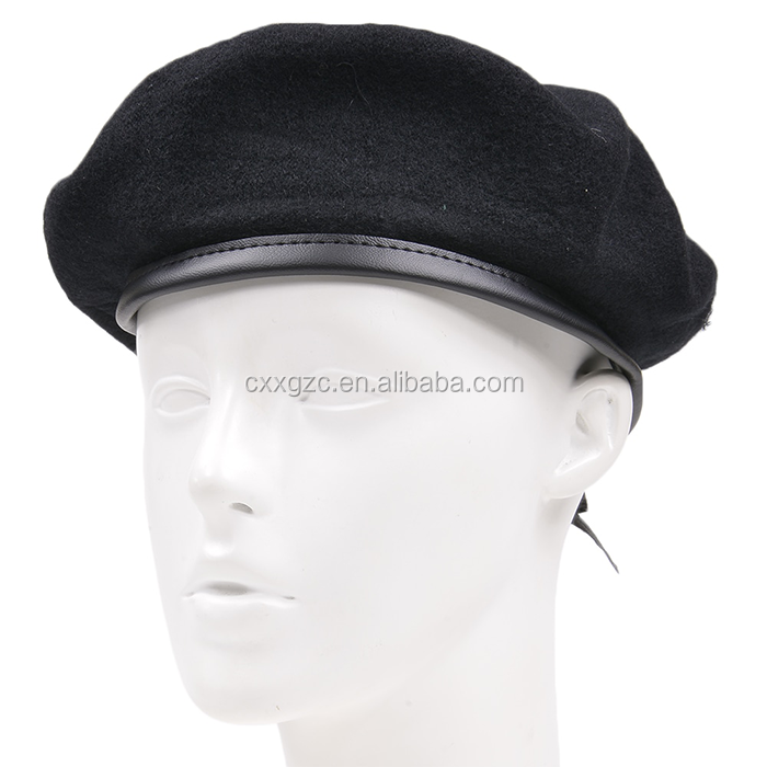Wholesale Unisex Pure Wool Military Army Wool Beret Hat&Cap