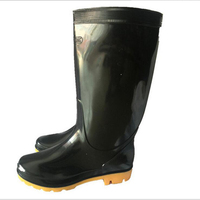 DEMI 347 China suppliers monogrammed black men pvc rain boots
