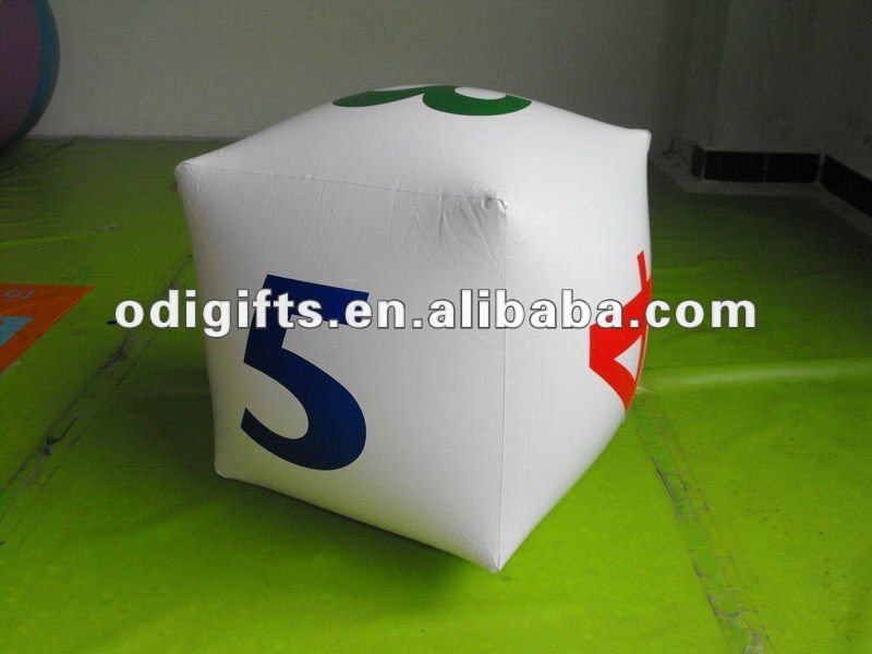 inflatable blocks game PVC air block inflate dice inflation cube