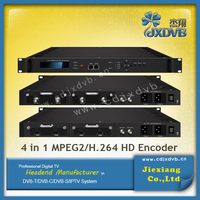 4 in1 DVBT/C/S LCDDisplay Encoder, HD/SD ASI H.264 IP Encoder
