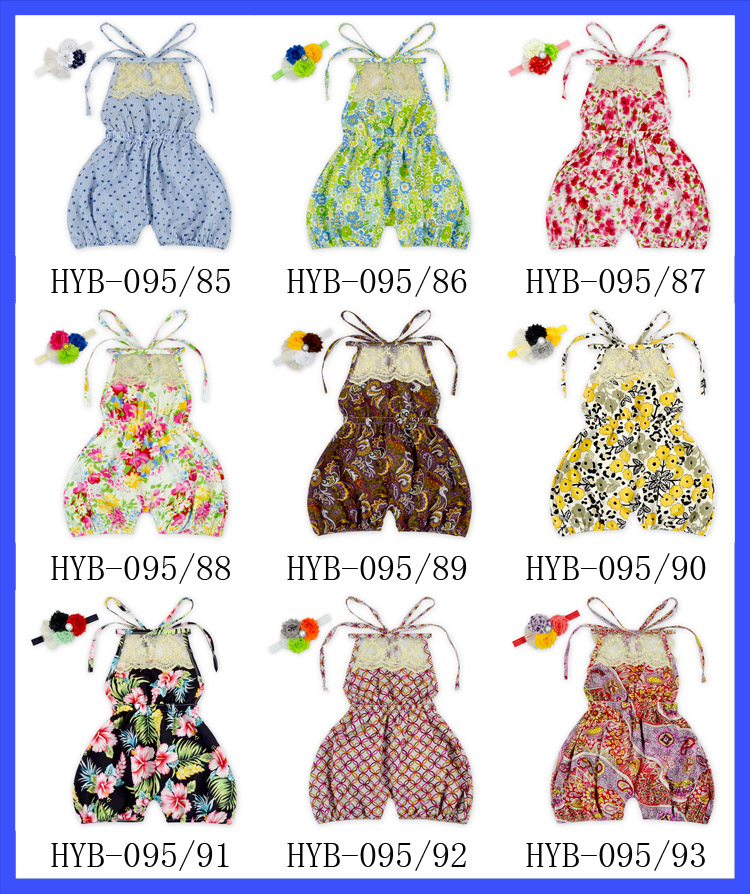 Floral Print Baby Girl Summer Dress Modern Fashion Girls Dresses Handmade Baby Cotton Dress Wholesale