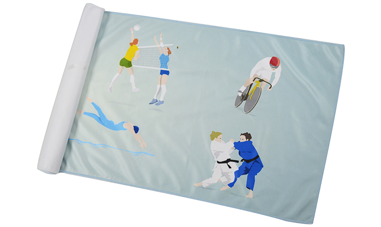 Full Color Printing Personalized Cool Microfiber Sports Compact Towel