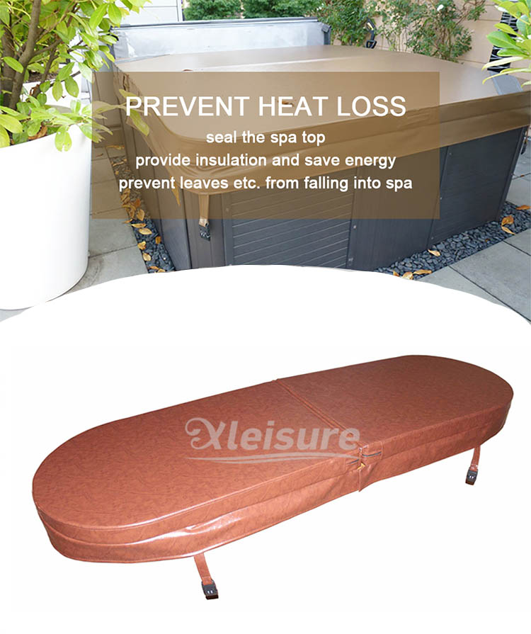 Abrasion Resistance Hot Springs Hot Tub Cover Energy Efficiency Wood Spa Cover