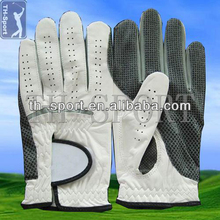 Cabretta Leather White + Black Golf Glove