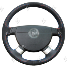 Best Price Custom Sewing Leather Steering Wheel Cover for Chevrolet Lova Aveo Buick Excelle Daewoo Gentra 2013-2015 Lacetti 2006