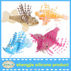 2014 colorful aquarium decoration silicone lion fish aquarium accessories