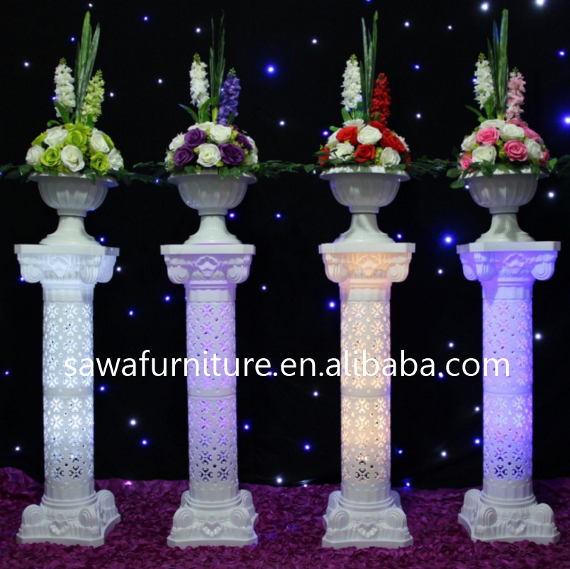 hot sale roman pillars plastic wedding pillars