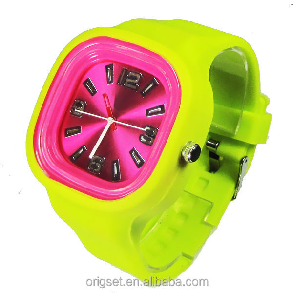 Japan movement 3ATM waterproof Square jelly watch ladies fashion watches latest