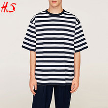 Wholesale China High Quality Comfortable Oversized Striped T Shirt Men