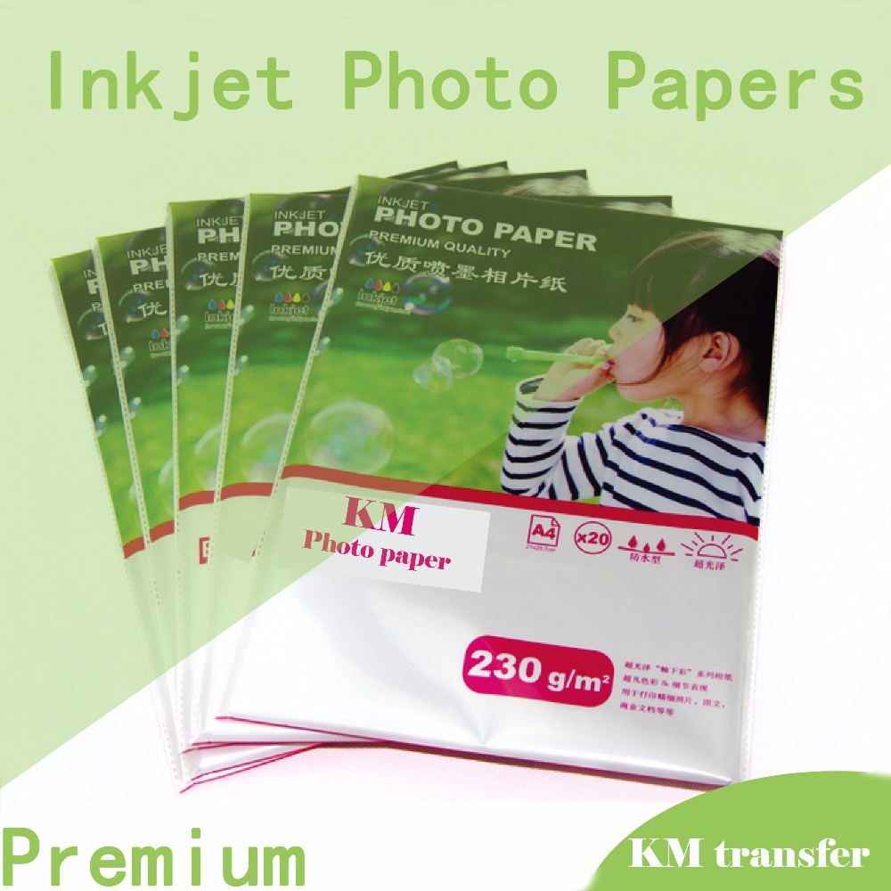 Professional inkjet glossy/matte cast coated/RC glossy photo paper a4