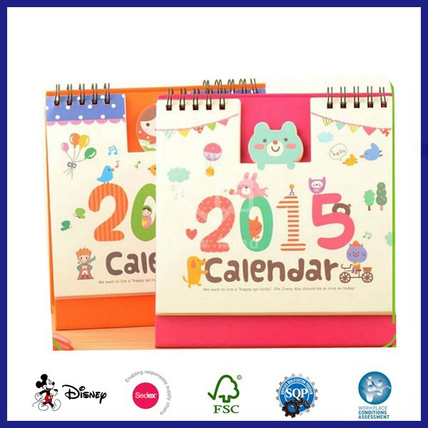 2017 Cute Design Table Calendar