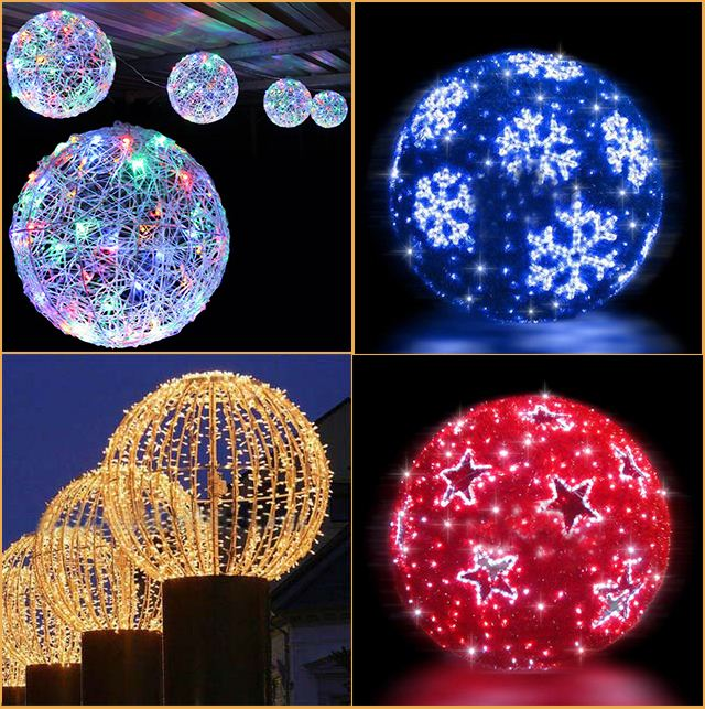 Wedding Hall Decor Hanging Christmas Light Balls
