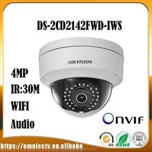 Hik 4MP WDR Dome Camera DS-2CD2142FWD-IWS 2.8mm 4mm POE IP CCTV Mini Camera