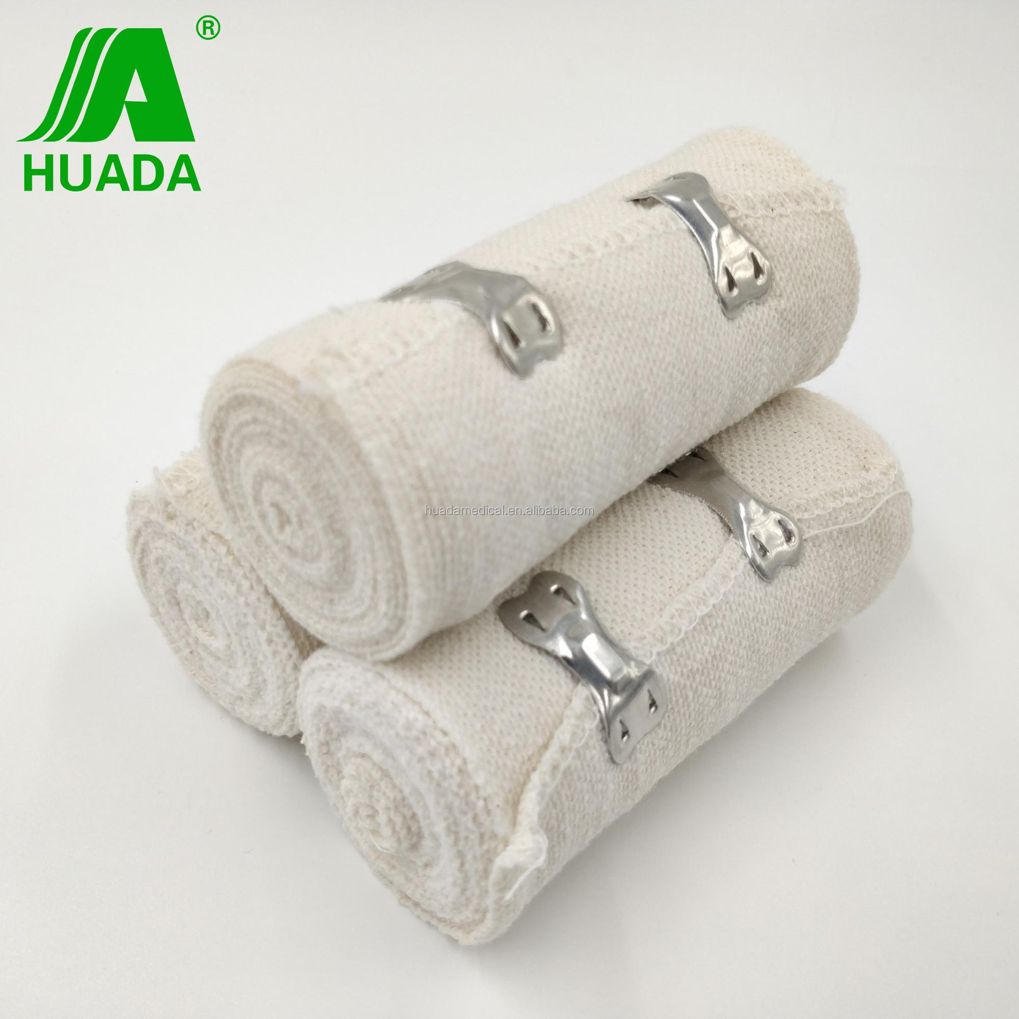 offwhite color elastic plain bandage for wound caring