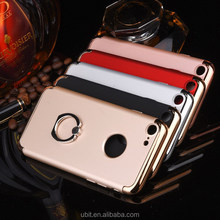 3 in 1 Aluminum Metal Ring Holder Chrome TPU Mobile Phone Case Cover for iPhone 6 6s
