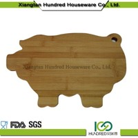 Totally bamboo bread cutting board with animal pig shape