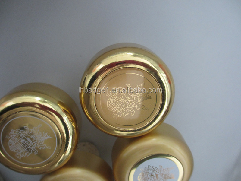 perfume bottle caps,gold bottle stopper,wine bottle cap