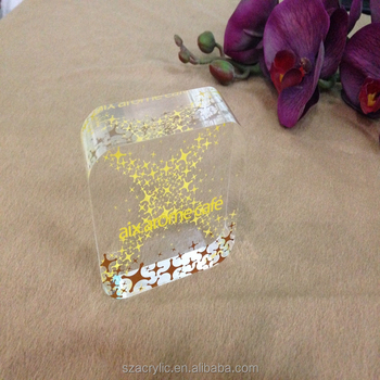 brand logo acrylic block DIY number block