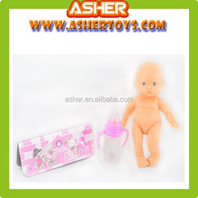 Little Solid Baby Doll With Bottle